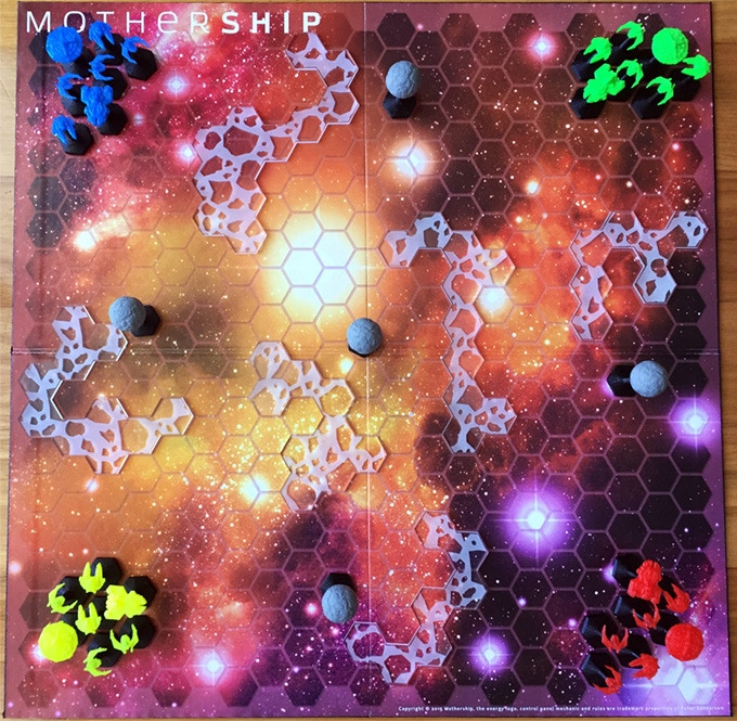 Mothership features a dynamic board that changes every time you play.