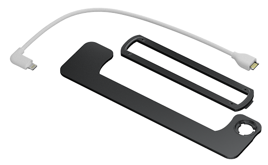"""The iPad Pro bracket also includes a new, longer Lightning cable for the 12.9"""" iPad Pro."""