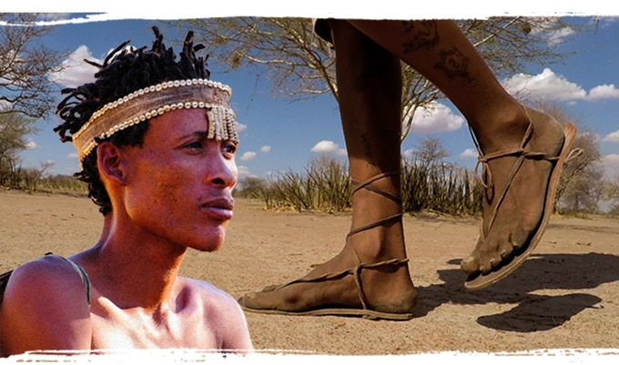 The sandals on San Bushmen feet! They are part of their rich African culture.