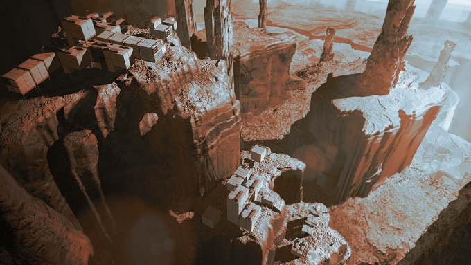 The natural verticality offered by Mars is a strong aspect we want to push in our game