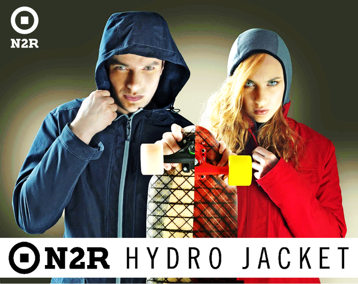 "EMBRACE NATURE N2R water+wind resistant Organic Jacket ""made in Italy"" without synthetic. For Man & Woman that fit outdoor adventures."