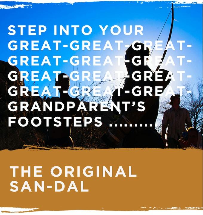 The original leather sandals handmade by San Bushmen
