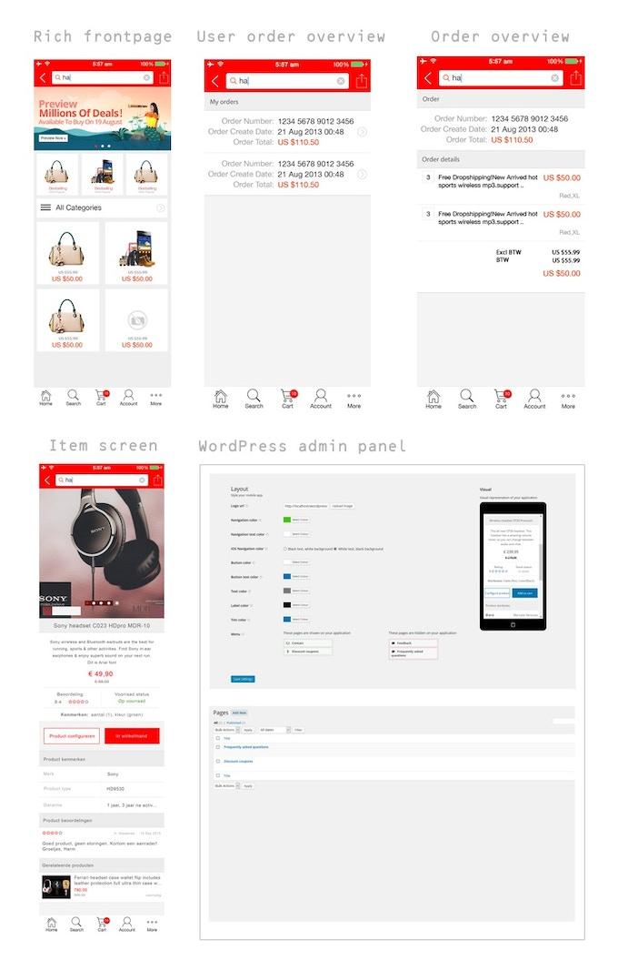 Appunga app and WordPress admin