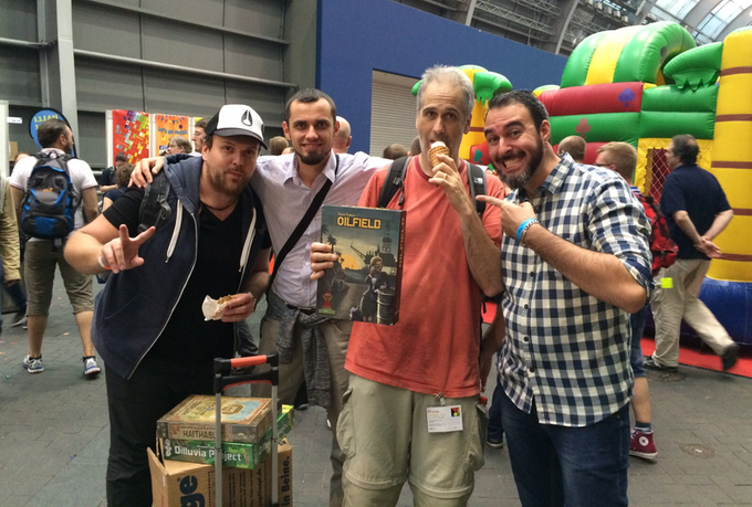 Paco Yanez (to the right) with Rahdo at Essen 2015