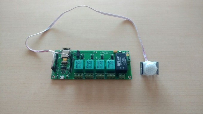 WiFi Quad Relay Board with PIR Sensor