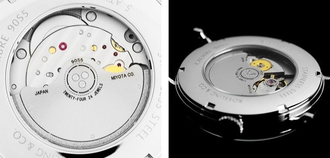 Exhibition caseback allows full view of the automatic movement