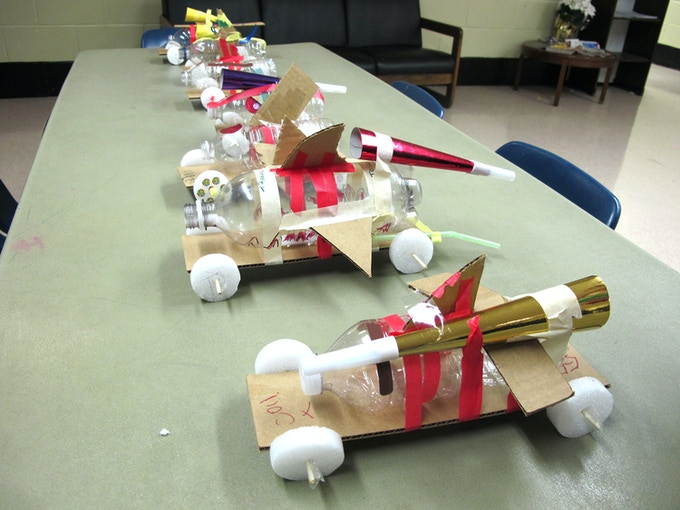 Toy cars made by kids at the Harlem workshop