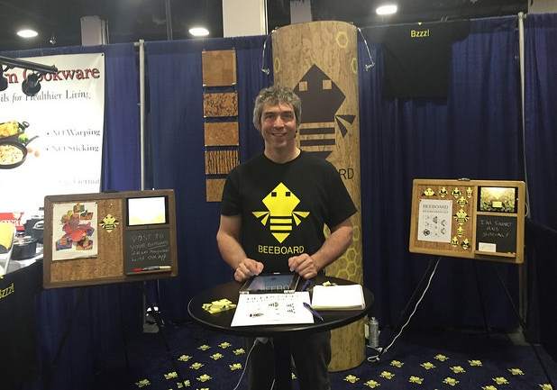 BeeBoard concept being presented at New England Home Show, Boston. Feb. 2016