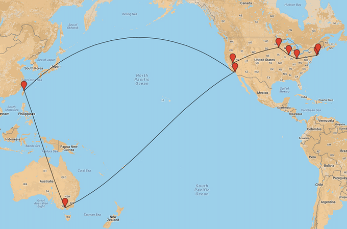 A few of the tour stops