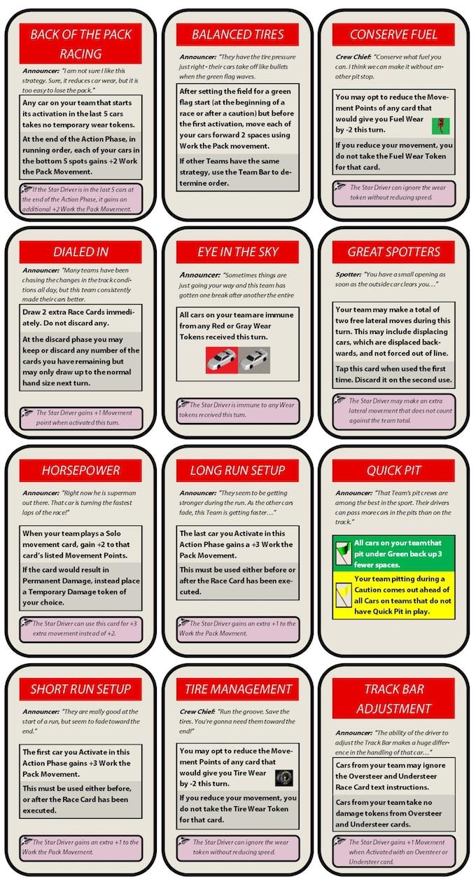 CREW CHIEF CARDS!