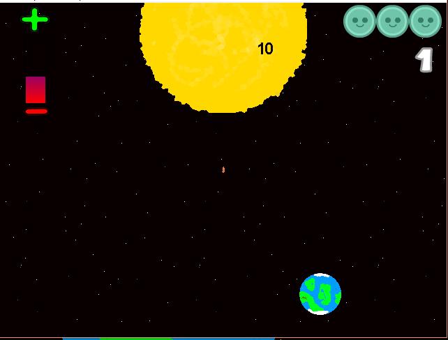 An early screenshot of Eniome orbiting the Sun