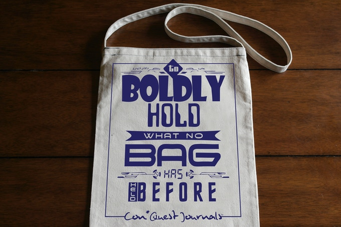 Boldly holding all of your con swag!