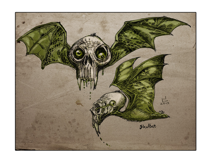 SKULBAT'S are found everywhere in the Obsidian Galaxy. Xane Dusk's ship is named after these scavenger creatures.