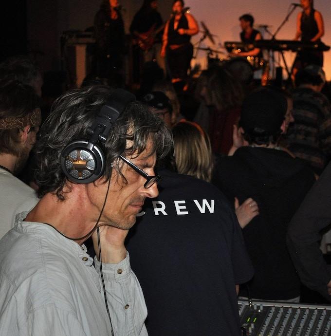 Dan working the sound