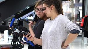 Vanessa and Nicole at the shooting of our Kickstartervideo © Vanessa Walitsch/Nicole Stigler