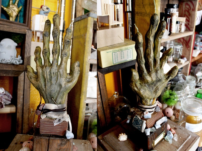 An artifact from the Last Apothecary, a Hand of Glory, of unknown origin.