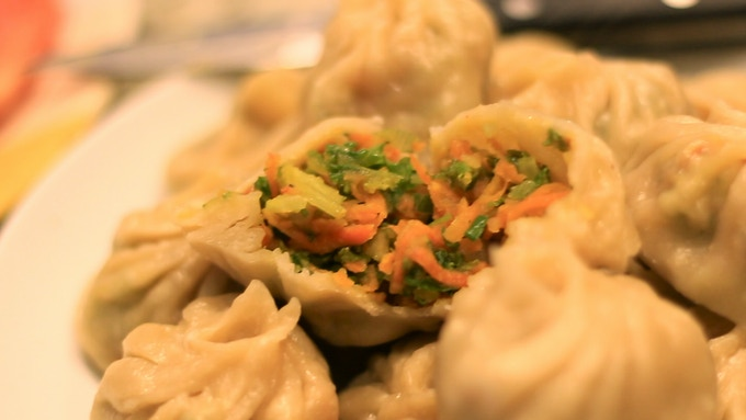 Our famous vegetarian momos