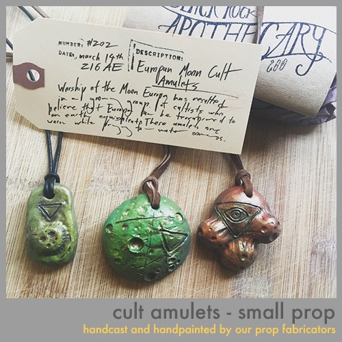 Cult Amulets, one of our small props available at all levels above $100