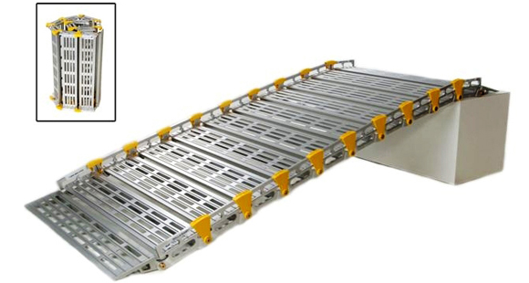 Roll-A-Ramp® is a highly customizable portable ramp that can be made virtually any length and easily transported from location to location.