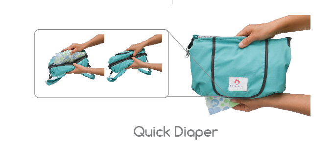 You can make sure you always have a least one diaper with this quick access pocket that closes effortlessly with magnets. Better yet, same diaper appears right on the changing pad!