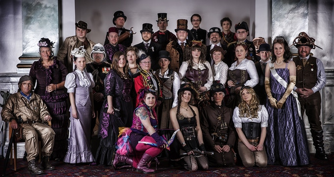 Some of The Lincoln Steampunk Society feature in the images