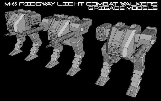 M-65 Ridgway Light Combat Walkers (Brigade Models) (Click to Enlarge)
