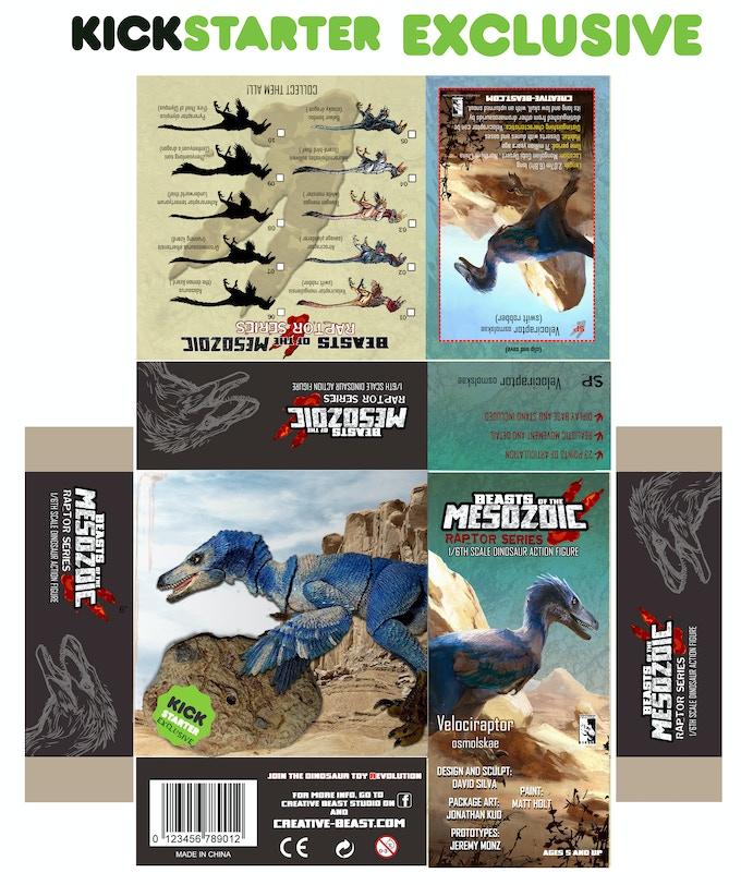 'Velociraptor osmolskae package layout'