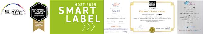 [Five International awards Cafflano® Klassic won in 2015]