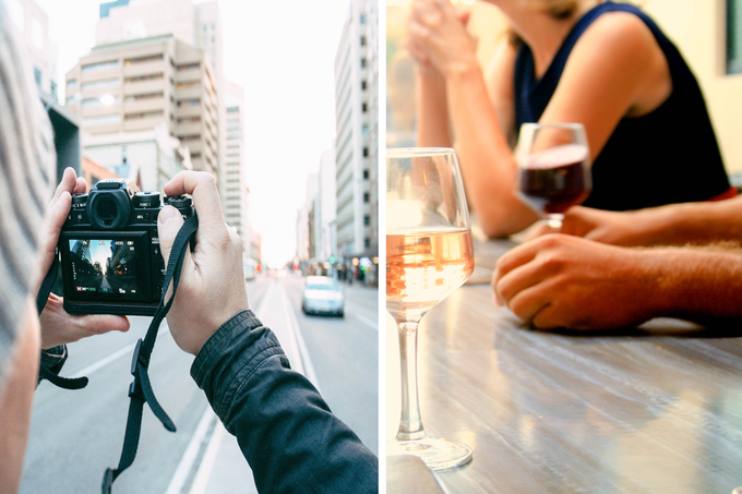 Photography for wine tasting