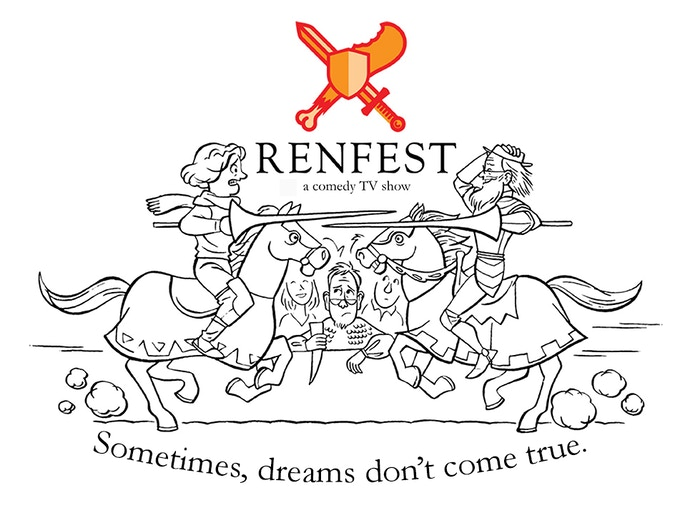 "Rough draft of RenFest Tee by Adam ""Apelad"" Koford"