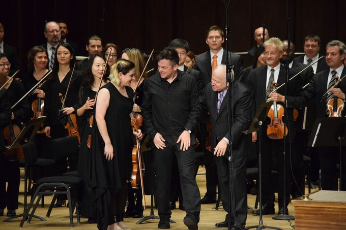 After the premiere of Nico Muhly's Viola Concerto with Nadia Sirota and the Detroit Symphony Orchestra's Leonard Slatkin