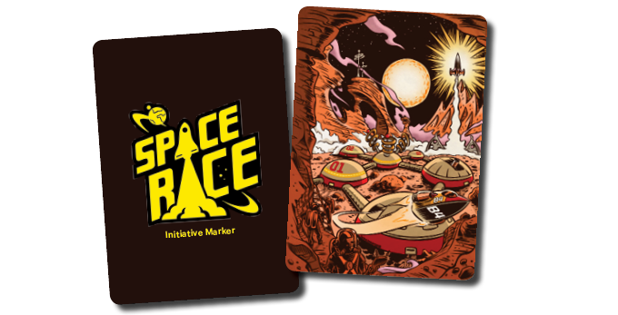 The original Initiative Marker on the left and Dalibor's illustration of future Mars City on the right. It'll be on the special Initiative Marker card, if we unlock this stretch goal.