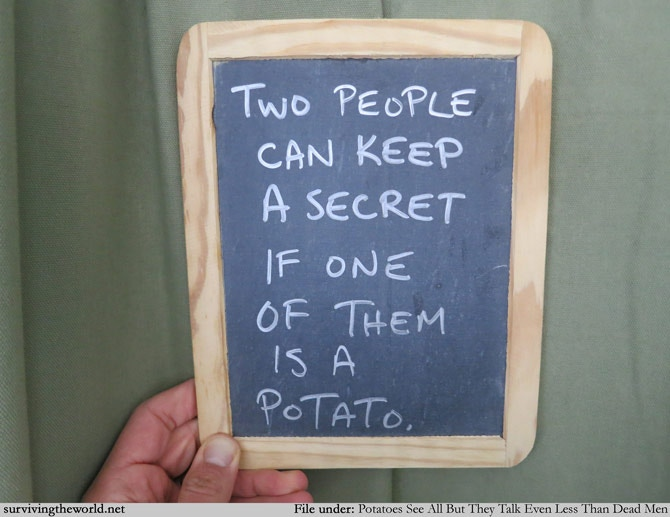 """Someone last time requested their slate lesson be about """"potatoes"""""""