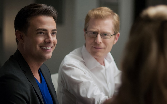 Jonathan Bennett and Anthony Rapp star in DO YOU TAKE THIS MAN. Photo by: Andrew Hreha © Modern Love, LLC.