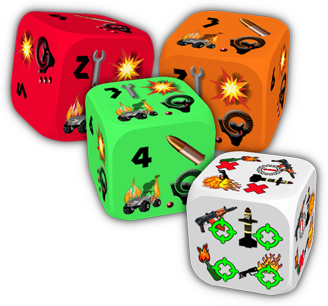 Wasteland Justice - Movement and Weapon Dice