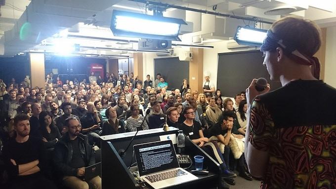 Me speaking at Google Campus, London, April 2016