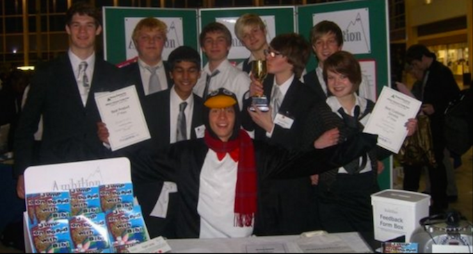 Yup. That's Alex in the penguin suit.