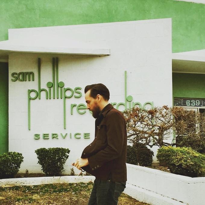 Matt Ross-Spang in front of the legendary Sam Phillips Studio