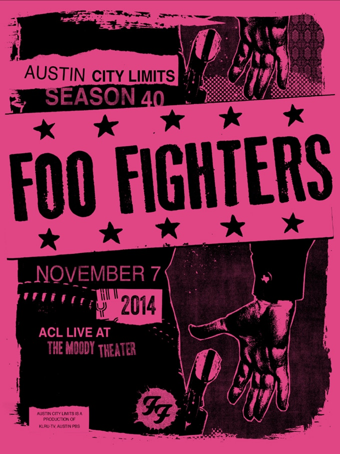"""""""BEST OF YOU"""" - Autographed Foo Fighters poster designed by Mark Pedini and Jared Connor of Mexican Chocolate."""