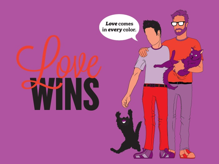 Celebrate the anniversary of Marriage Equality with vibrant greeting cards, postcards and prints that reflect the diversity of love.