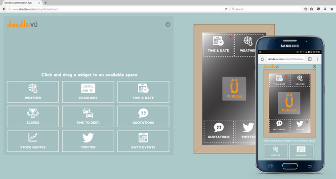 DoodleVU Web and Mobile Interface