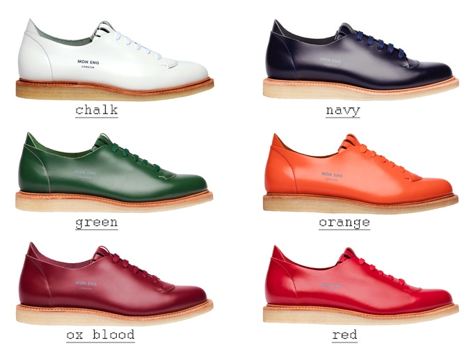 This image shows our Trainer in all 6 colours. The Sandal is also available in these colours. NOTE - Orange is available in limited numbers.