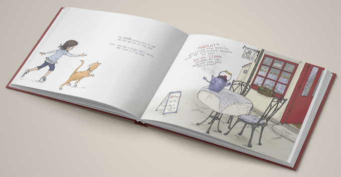 A mock-up of the book featuring Hannah Hutchings' incredible artwork