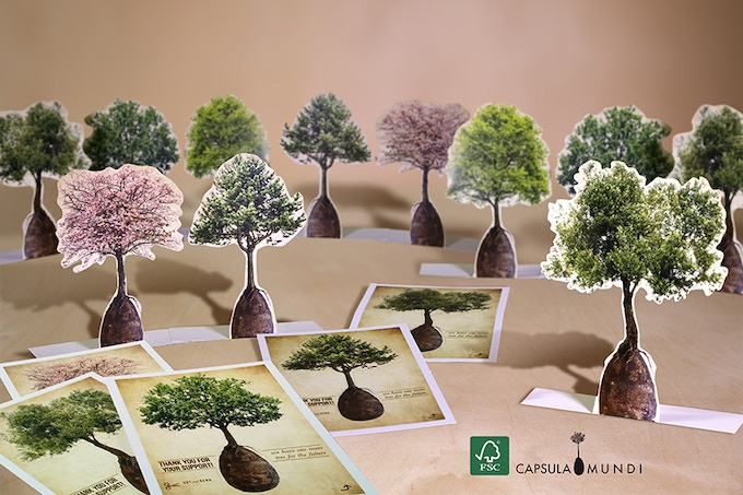 "Pop-up postcards to grow your ""desk forest"""