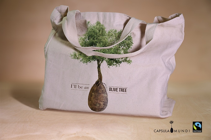 Fairtrade Capsula Mundi shopping bag