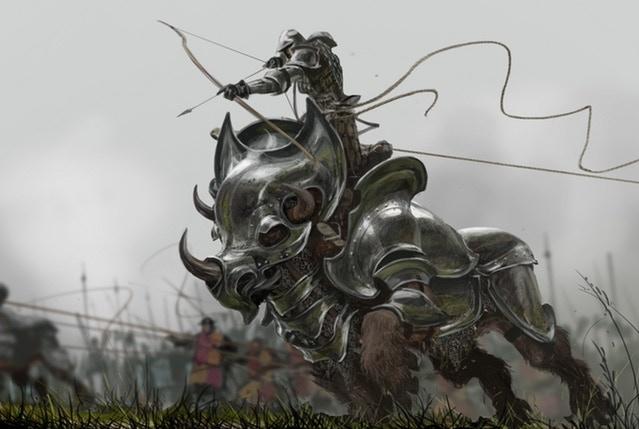 Concept art of War Trison mount