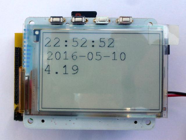 Pi Platter Clock with eInk Display