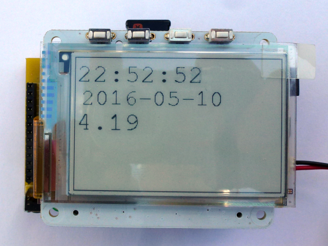 Pi Platter Clock with eInk Display