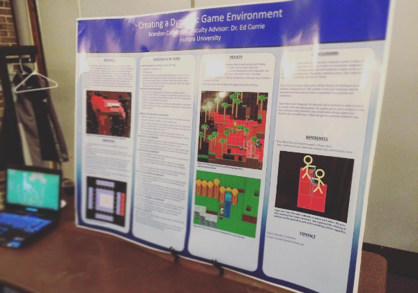 Game design presentation at Hofstra University where the mechanics of developing the game were discussed