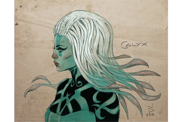 Calyx is a Obsidian Masq and Hexer. Native to the planet Obsidia, Calyx is a rare combination of Obsidian and Masquer.